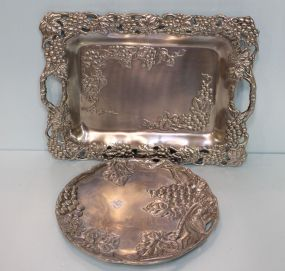 Two Arthur Court Pewter Trays