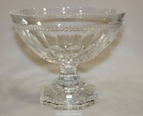 Large La Marson France Crystal Compote