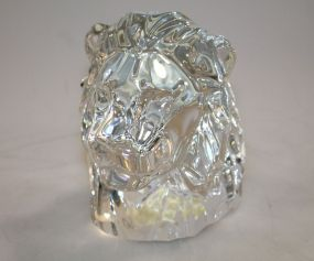 Signed Baccarat Lion Head