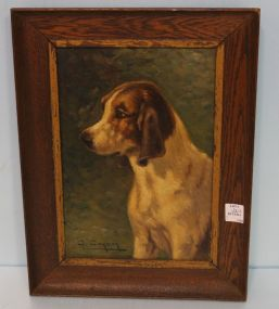 Turn of the Century Oil Painting of Dog by G. Corbier