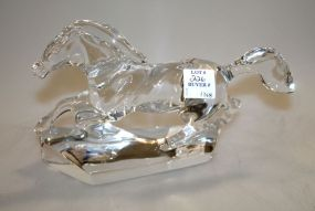 Signed Baccarat Crystal Racing Horse