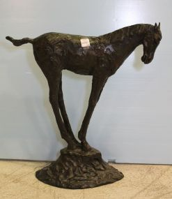 Tall Bronze Horse by Tom Corbin