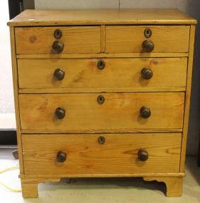19th Century Pine Five Drawer Chest