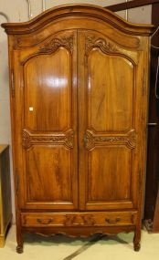 18th Century French Petit Bonnet Top Walnut Armoire