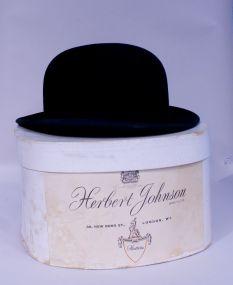Vintage English Bowler Hat, Mint in Box, Herbert Johnson - Hatter