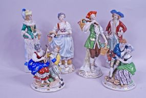 Collection of 6 Occupied Japan Figurines