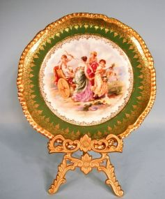 Imperial Crown China Cabinet Plate by Angelica Kauffmann