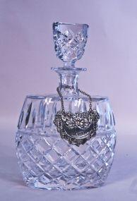 Fine Cut Crystal Decanter w/ Bourbon Tag