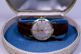 Benrus 21 Jewel Mens 14k Wristwatch