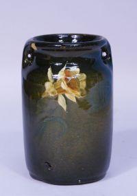 McCoy Pottery Loy-Nel-Art Standard Glaze Handled Daffodil Vase
