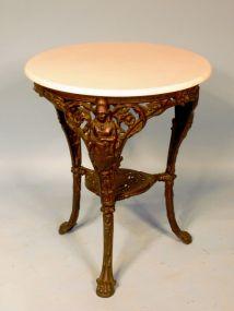 Victorian Cast Iron Center Table, R.H. Connor