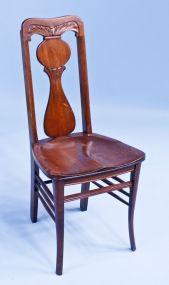 c1900 Walnut Ladies Carved Vanity/Desk Chair