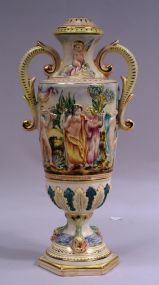 Capodimonte Hand Painted Lamp Base