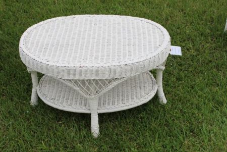 0653 white wicker coffee table may online only 2017 White wicker coffee table