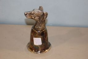 Dog Head Silverplate Julep Cup