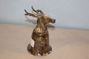 Deer Head Silverplate Julep Cup