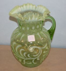 Jefferson Glass Co. Opalescent Green,
