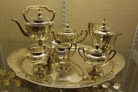Reed & Barton Sterling Silver St. George Chased Pattern Coffee and Tea Service