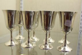 Baker Manchester Set of Eight Sterling Goblets Monogramed