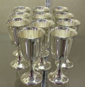 Wallace Sterling Silver Goblets Set of Eleven
