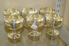 International Sterling Silver Low Dessert Cups Set of Six