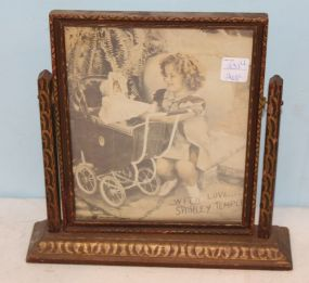 Original Shirley Temple Photograph in Swivel Frame Circa 1935
