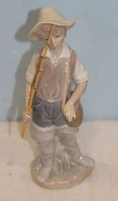 Lladro Figure of Fishing Boy