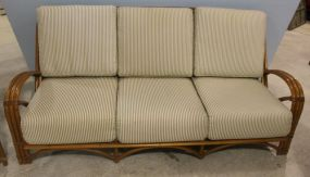 Haywood Wakefield Ashcraft Sofa with Three Cushions