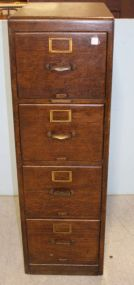 Library Bureau Sole Makers Four Drawer Oak Filing Cabinet