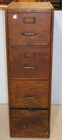 Macey Four Drawer Oak Filing Cabinet
