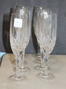 Gorham Lady Anne Crystal Set of Eight Champagne Flutes