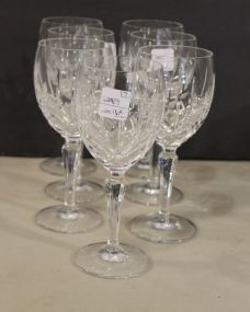 Gorham Lady Anne Crystal Wine Glasses Set of Seven
