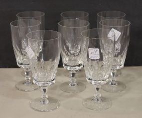 Set of Eight Crystal Glasses for Iced Tea