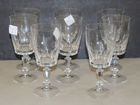 Set of Eight Crystal Glasses for Wine
