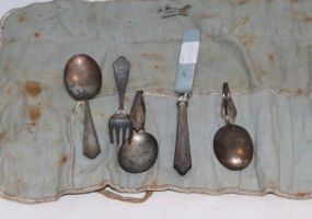 Sterling Youth Set and Two Sterling Spoons