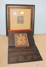 Bob Canizaro, Jackson, MS,  Abstract Art Matted and Framed