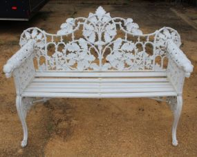 Dog Head Cast Iron Bench