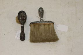 Sterling Silver Bonnet Brush or Hat Brush and a Baby Brush