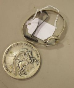 Sterling Horse Bit Bracelet by Goldram, a Sterling Wax Seal by Lenore Doskow and a Silverplated Bronze Medallion