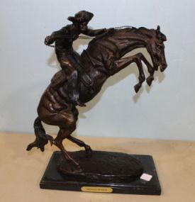 Bronco Buster Sculpture
