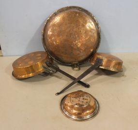 Group of Copper Tone Pans and Molds