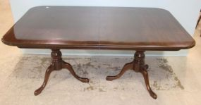Queen Anne Style Dining Table with Two Leaves