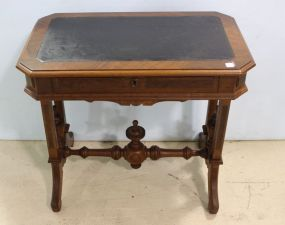 Victorian Leather Top One Drawer Stand