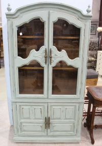 Duck Egg Blue Two Door China Cabinet