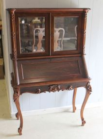 Early Rosewood Drop Front Desk