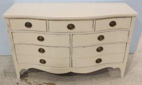 White Bow Front Dresser
