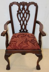 Chippendale Ball and Claw Arm Chair