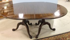 Henkle Harris Virginia Galleries Double Pedestal Table with Three Leaves