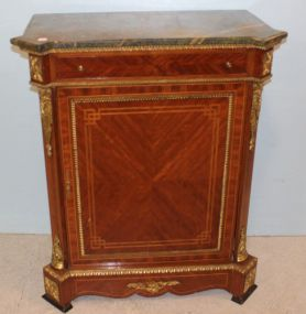 French Style Ormolu Mounted Cabinet with Drawer and Door