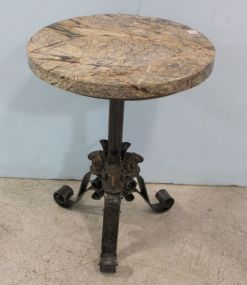 Theodore and Alexander Ram's Head Table with Stone Top